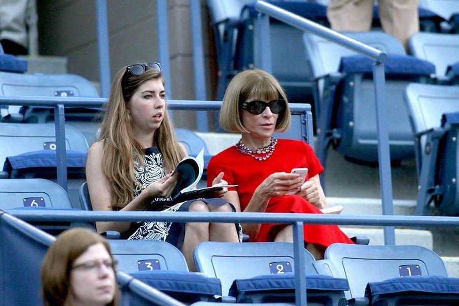 Anna Wintour à l'US Open à New York le 25 août 2014.