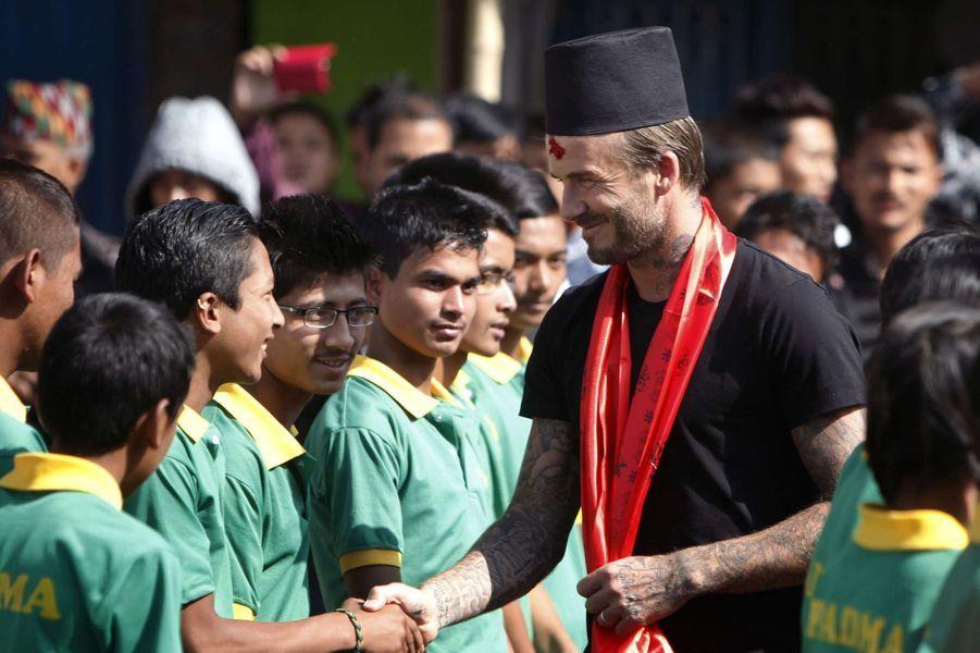 David Beckham à Bhaktapur le 6 novembre 2015