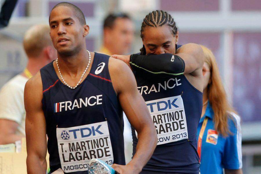 Pascal et Thomas Martinot-Lagarde aux championnats du monde d'athlétisme à Moscou