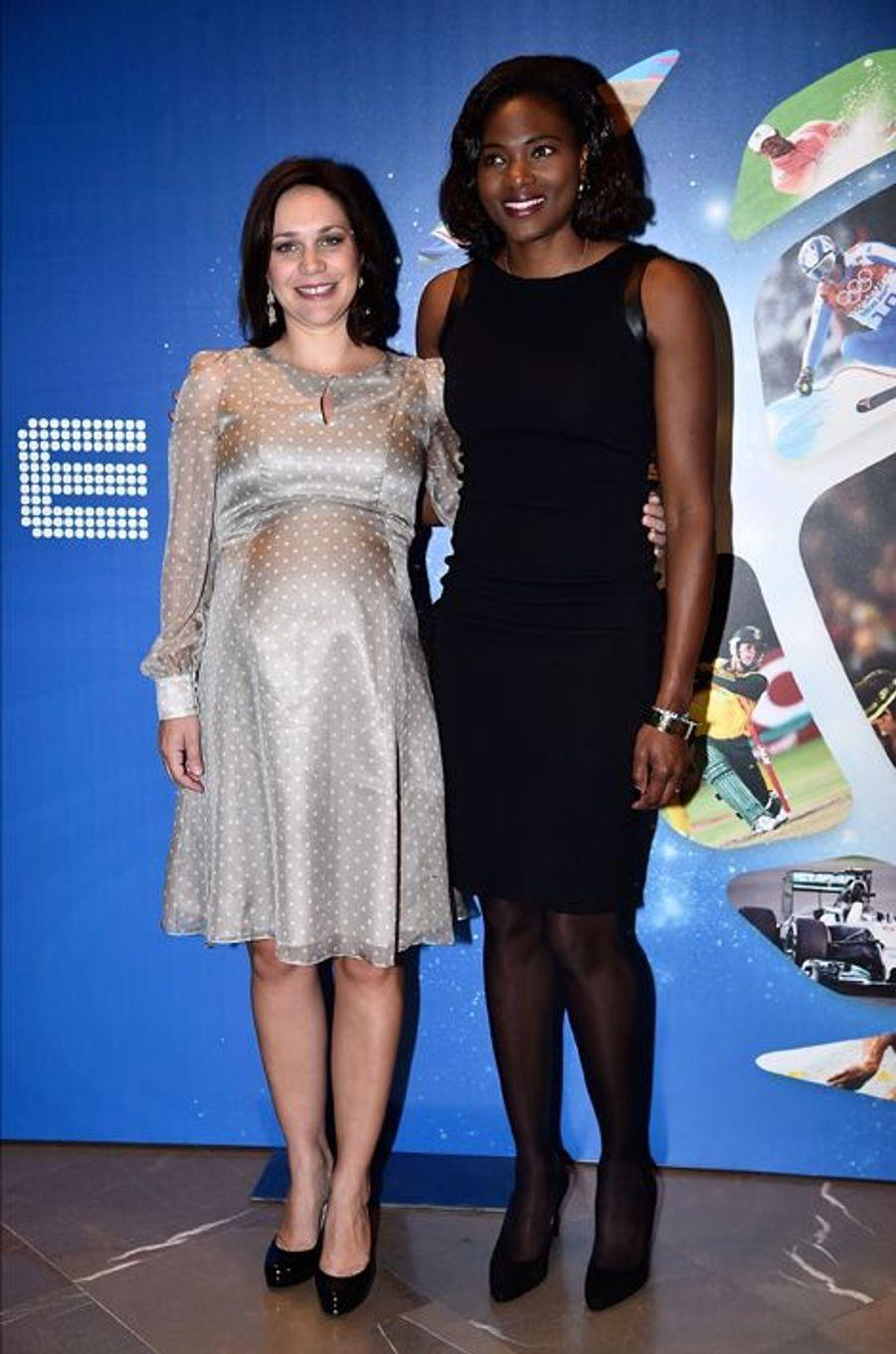 Nathalie Péchalat et Muriel Hurtis à la convention Sportel Monaco 2015 le 13 octobre dernier.