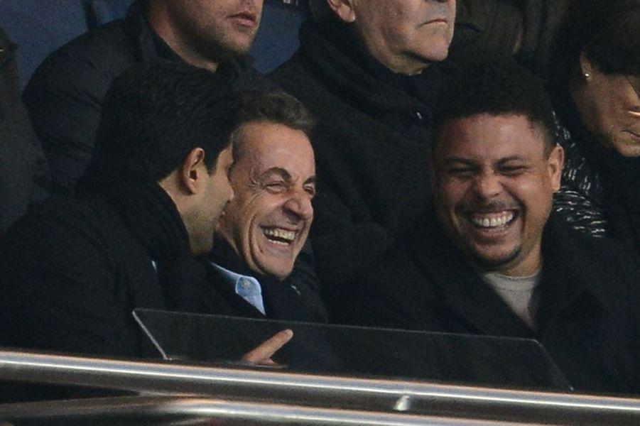 Nasser Al-Khelaïfi, Nicolas Sarkozy et Ronaldo à Paris le 29 novembre 2014