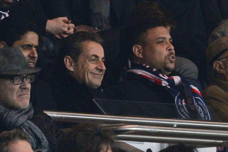 Nicolas Sarkozy et Ronaldo à Paris le 29 novembre 2014