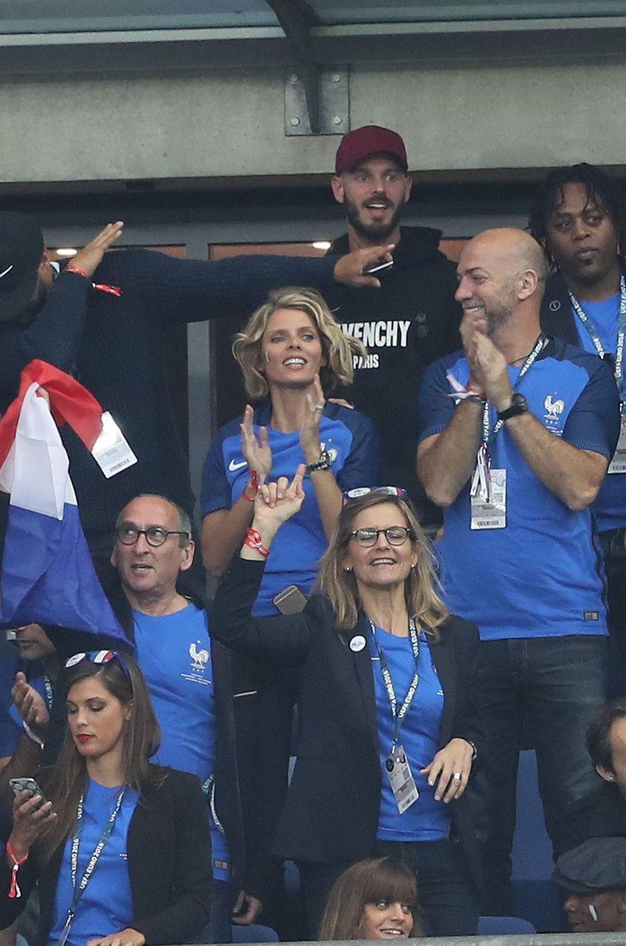 Sylvie Tellier et M. Pokora au Stade de France, le 3 juillet 2016.
