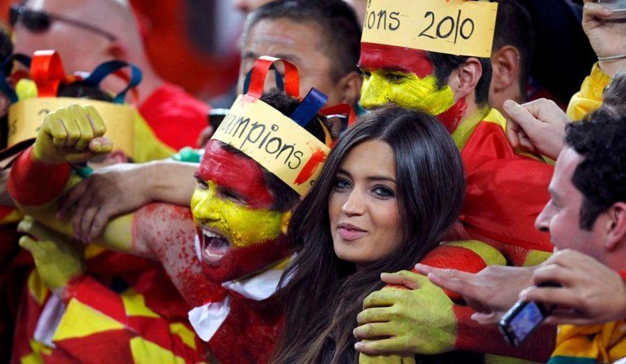 La belle a pris un bain de foule, après la victoire de l'Espagne en Coupe du Monde.