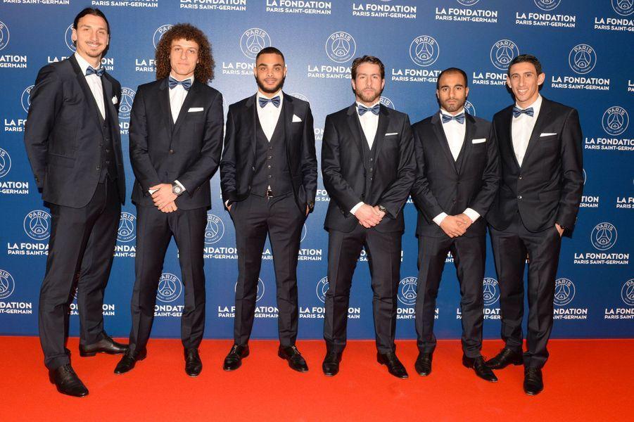 Ibrahimovic, David Luiz, Kurzawa, Maxwell, Lucas et Di Maria