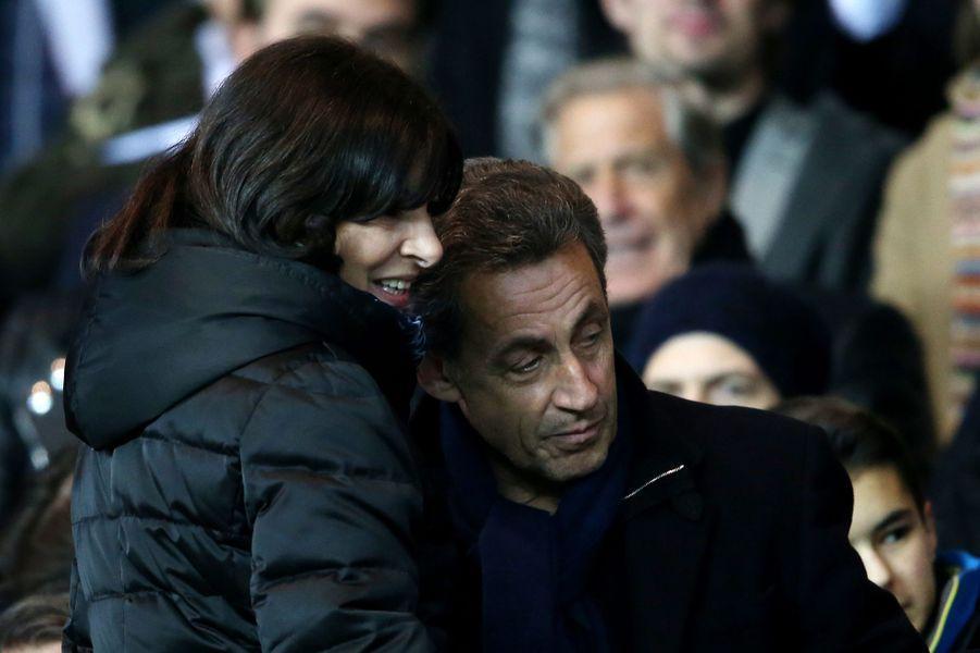 Anne Hidalgo et Nicolas Sarkozy à Paris le 21 mars 2016