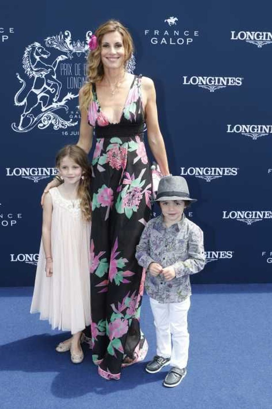 Sophie Thalmann, sa fille Charlie et son fils Mika