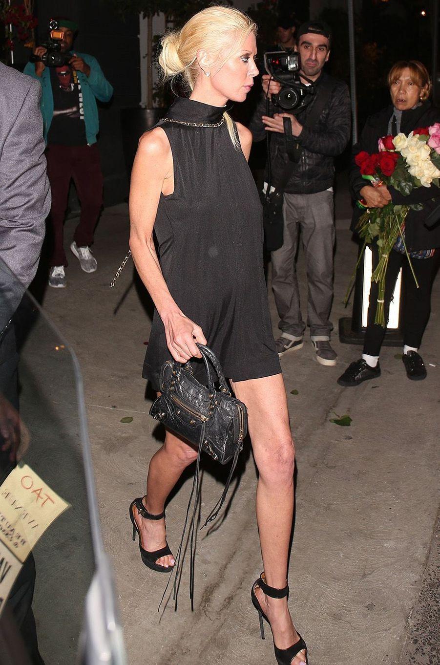 Tara Reid à la sortie du restaurant à Hollywood, le 30 mai 2017.