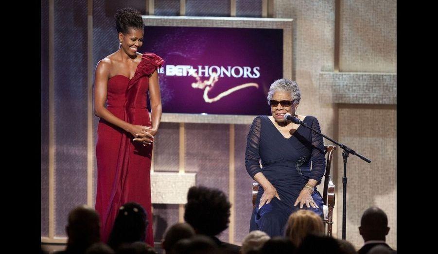 Michelle Obama et Maya Angelou