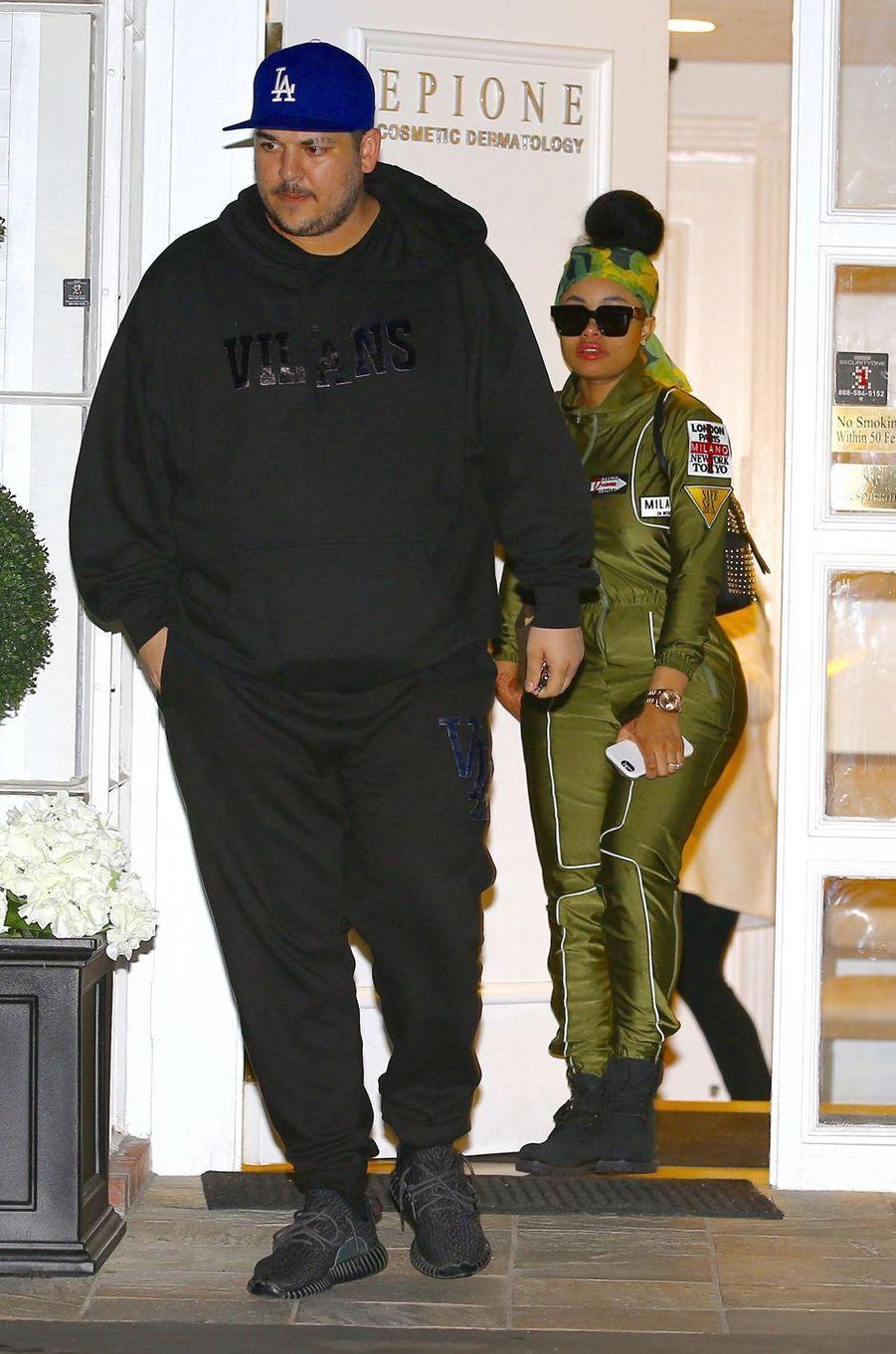 Rob Kardashian et Blac Chyna à Los Angeles le 18 février 2016