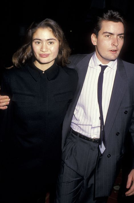 Avec Charlotte Lewis, une actrice anglaise, ici en 1987.
