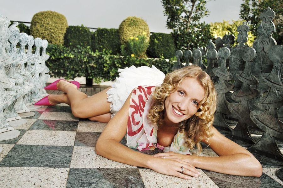 """Alexandra Lamy, entre deux répétitions de """"Théorbe"""", 2003"""