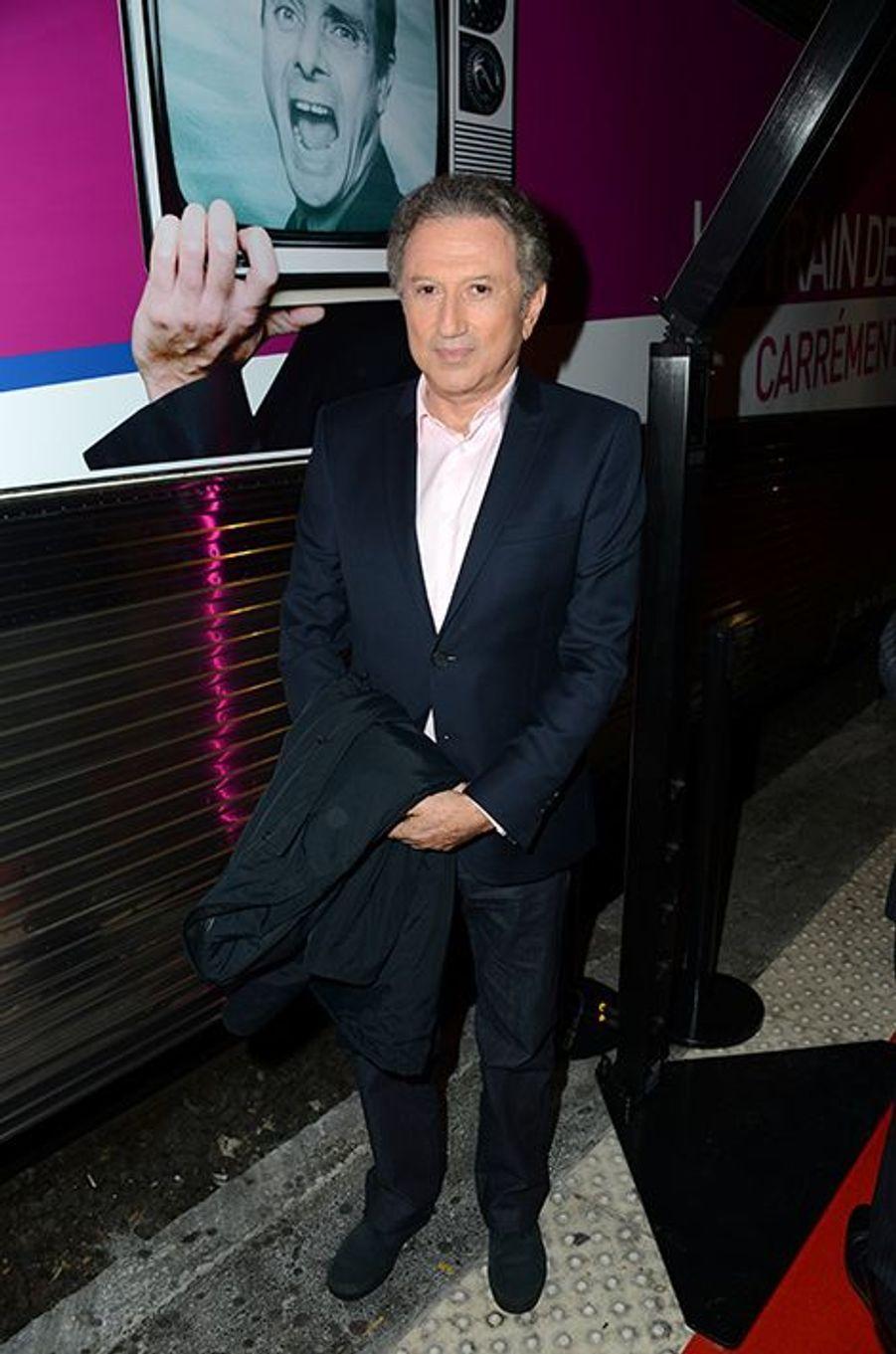 Michel Drucker à l'inauguration du Train de la Télé à Paris le 6 octobre 2014