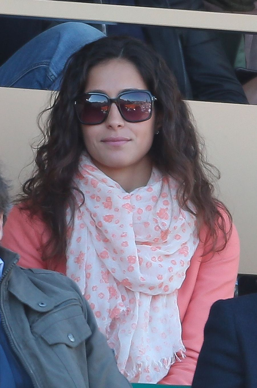 Xisca Perello dans les tribune des Monte Carlo Rolex Masters 2013