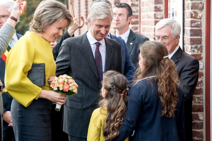 La reine Mathilde et le roi Philippe de Belgique à Roulers, le 8 novembre 2016