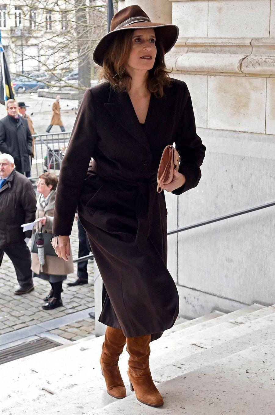 La princesse Maria-Esmeralda de Belgique à Bruxelles, le 20 février 2018