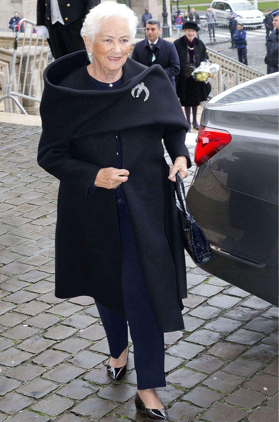 L'ancienne reine des Belges Paola à Bruxelles, le 15 novembre 2017