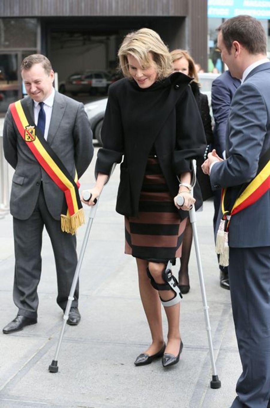 La reine Mathilde de Belgique à Namur, le 24 mars 2015