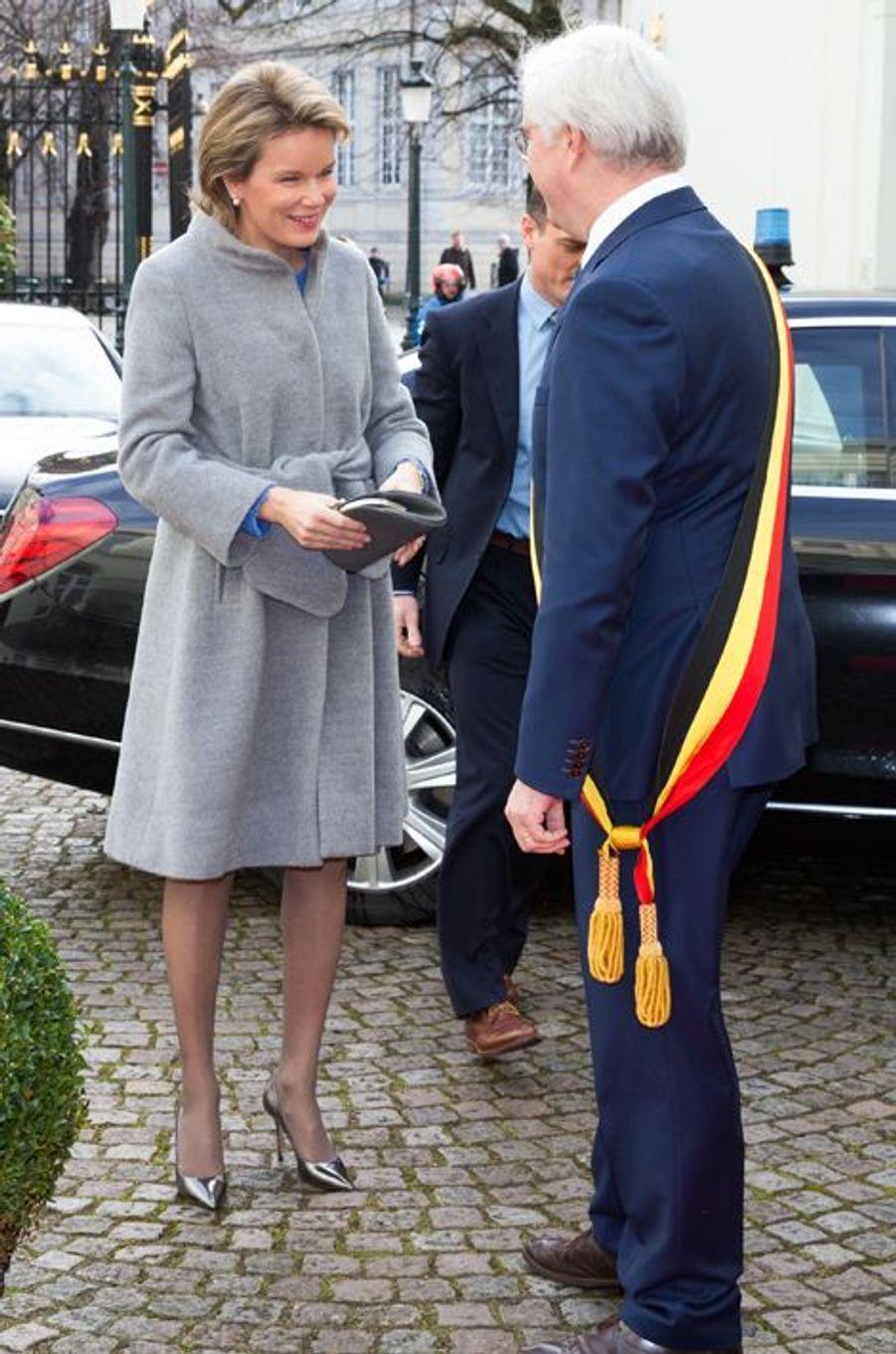 La reine Mathilde de Belgique à Bruges, le 3 mars 2016