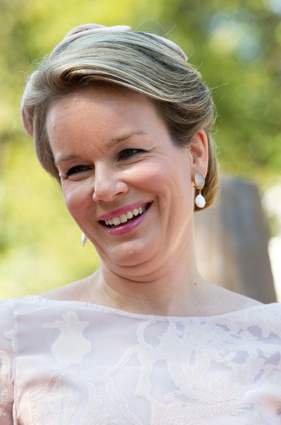 La reine Mathilde de Belgique à Venise, le 8 septembre 2017
