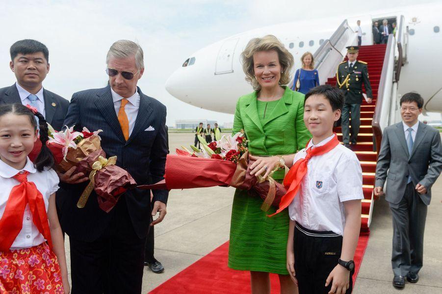 La reine Mathilde de Belgique à Shanghaï, le 25 juin 2015