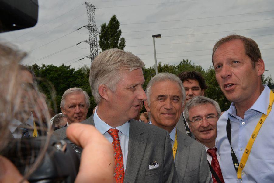 Le roi Philippe de Belgique à Seraing, le 7 juillet 2015