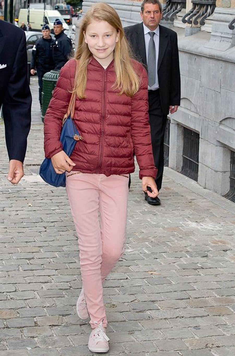 La princesse Elisabeth de Belgique à Bruxelles, le 1er septembre 2015