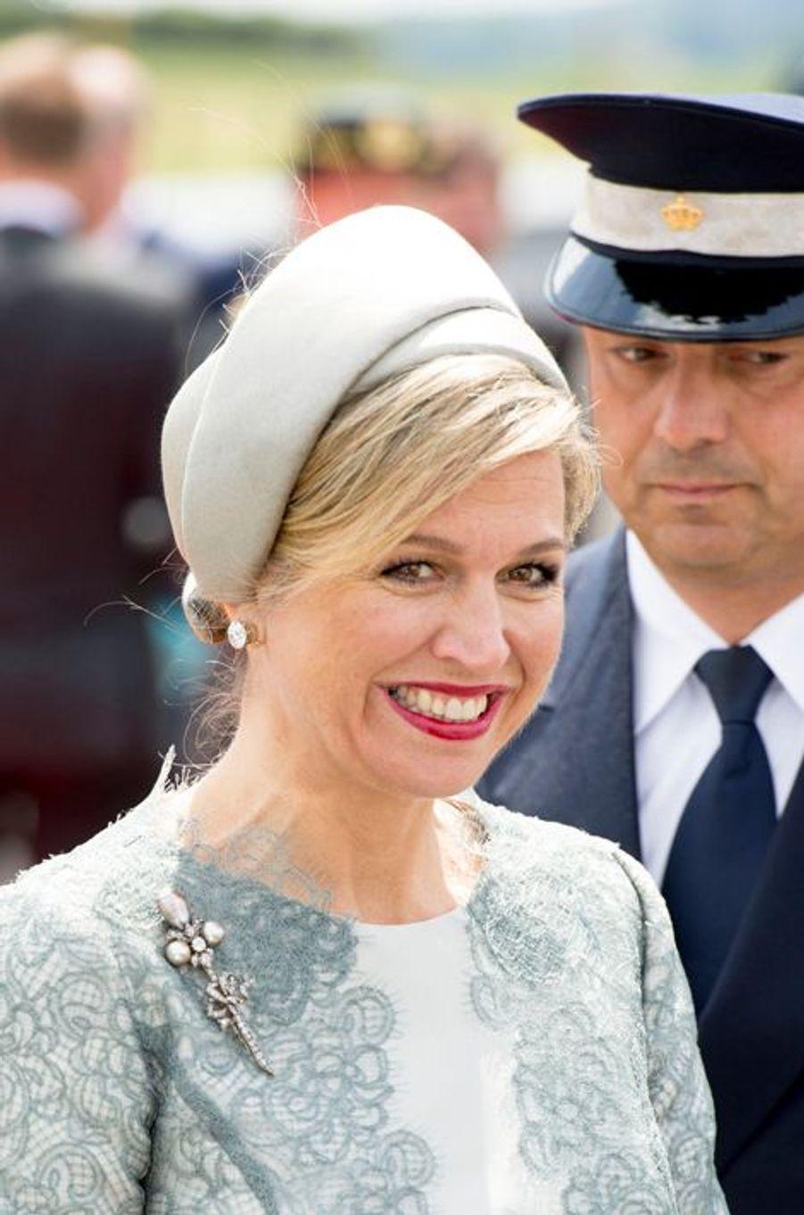 La reine Maxima des Pays-Bas à Waterloo, le 18 juin 2015