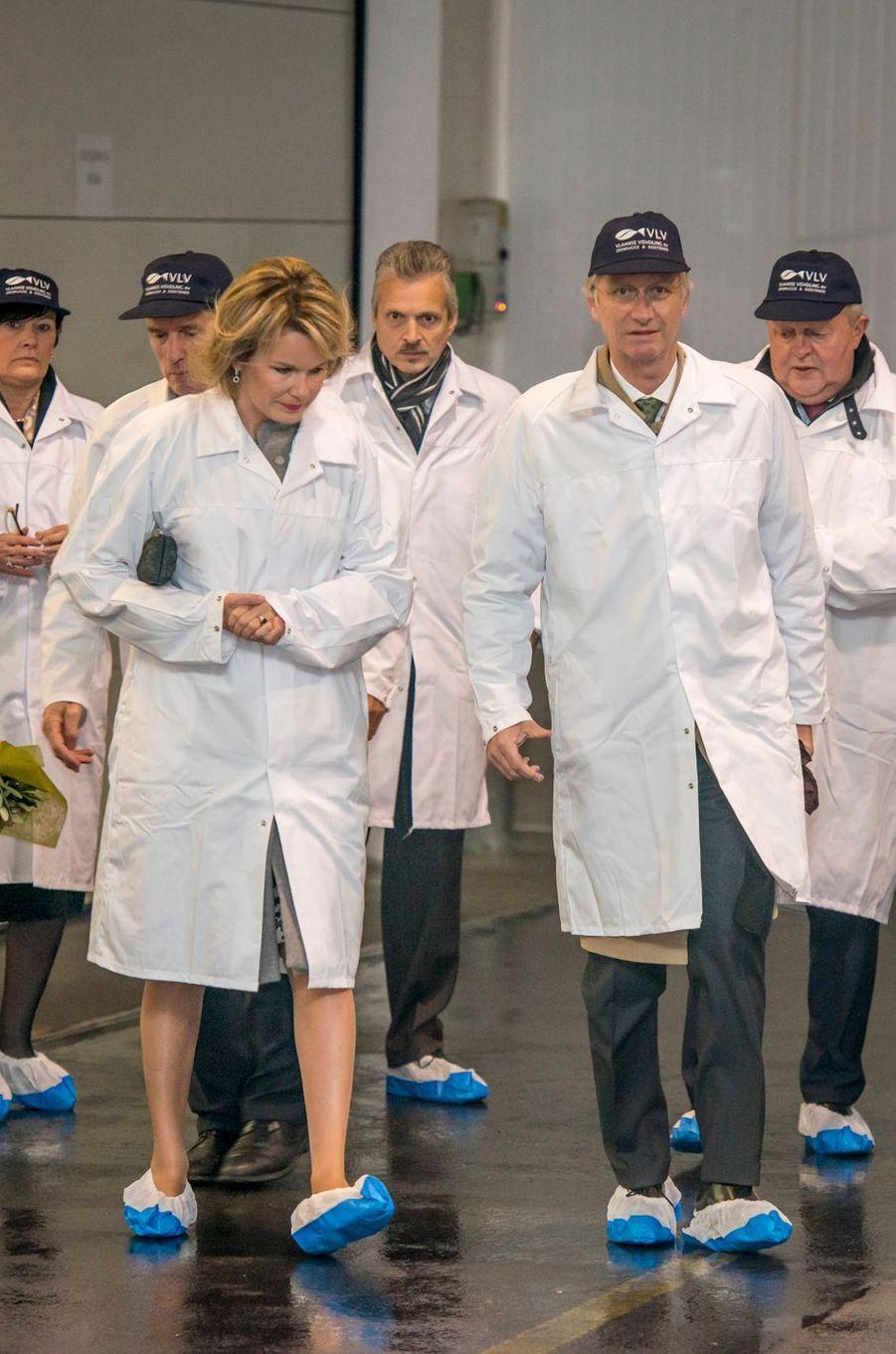 La reine Mathilde et le roi Philippe de Belgique à la minque de Zeebrugge, le 9 novembre 2016