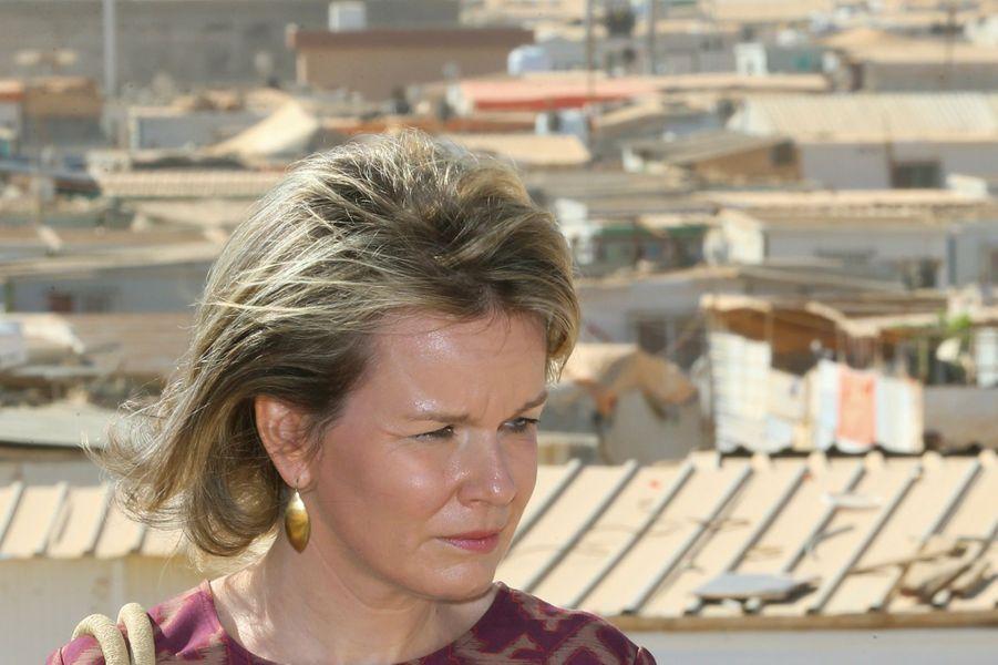 La reine Mathilde de Belgique en Jordanie, le 24 octobre 2016