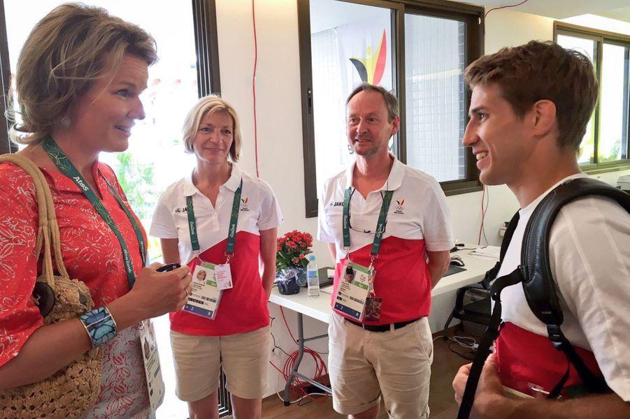 La reine Mathilde de Belgique aux JO de Rio, le 6 août 2016