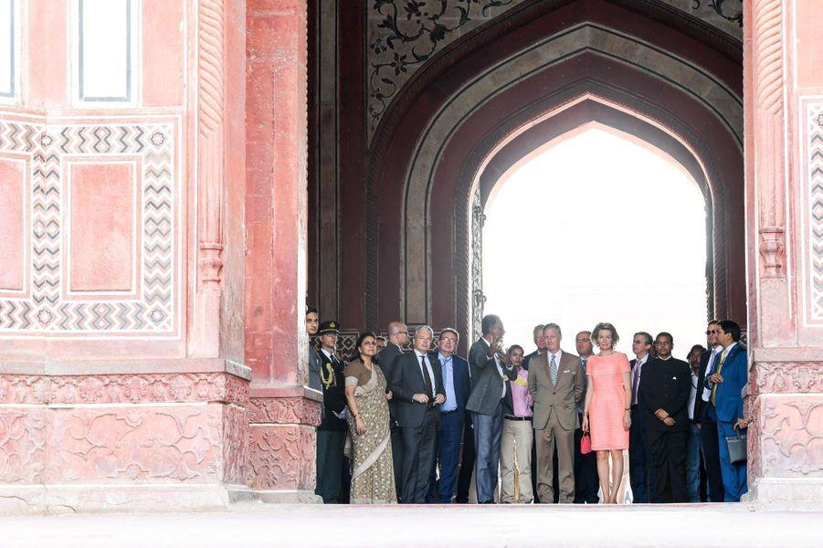 La reine Mathilde et le roi Philippe de Belgique à Agra en Inde, le 6 novembre 2017