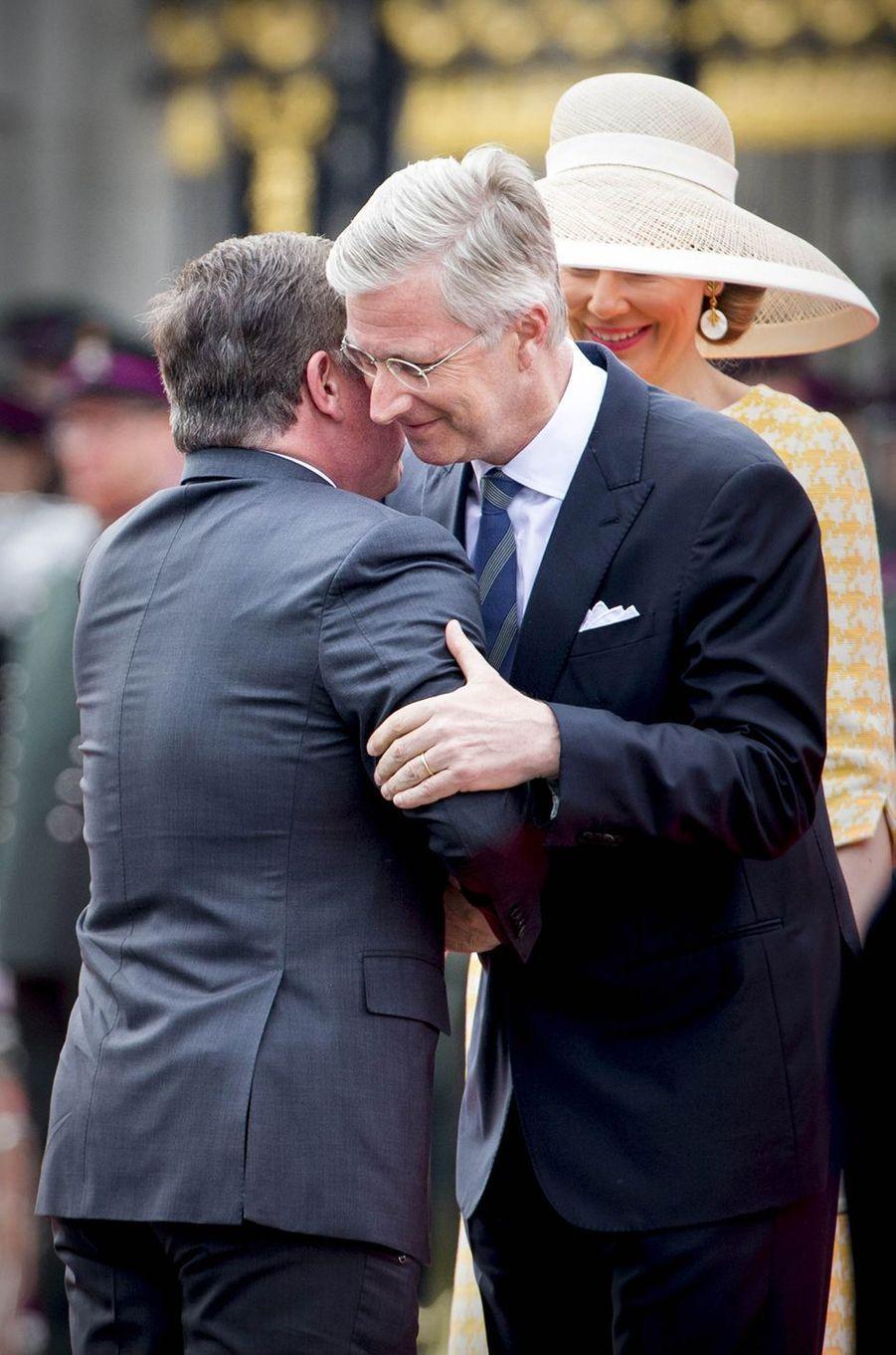 Le roi Philippe de Belgique et le roi Abdallah II de Jordanie à Bruxelles, le 18 mai 2016
