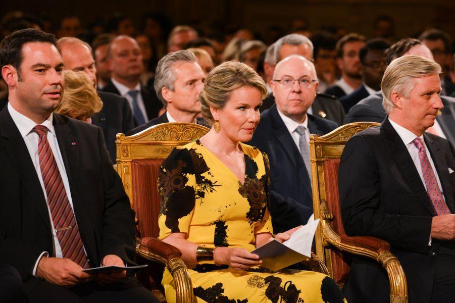 La reine Mathilde et le roi des Belges Philippe au concert d'automne à Bruxelles, le 19 octobre 2017