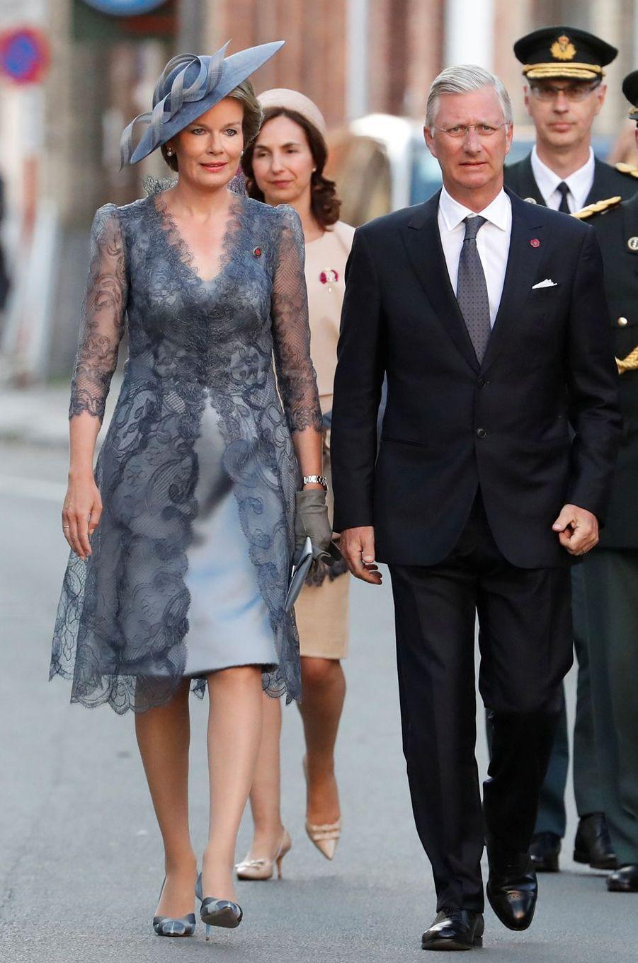 La reine Mathilde et le roi Philippe de Belgique à Ypres le 30 juillet 2017
