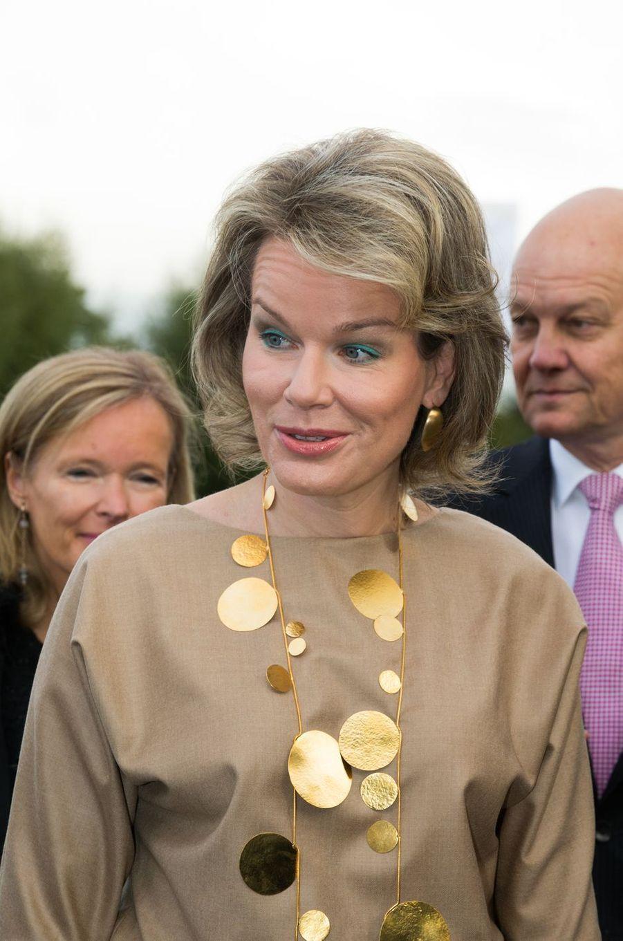 La reine des Belges Mathilde à Courtrai, le 20 octobre 2016