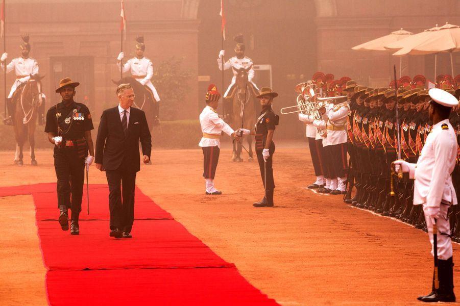 Le roi des Belges Philippe à New Delhi, le 7 novembre 2017