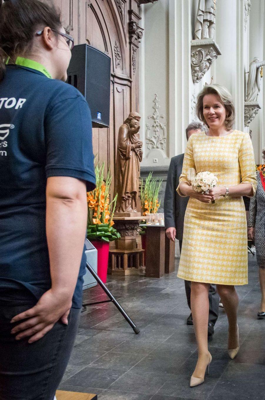 La reine Mathilde de Belgique en Natan à Saint-Trond, le 15 septembre 2017
