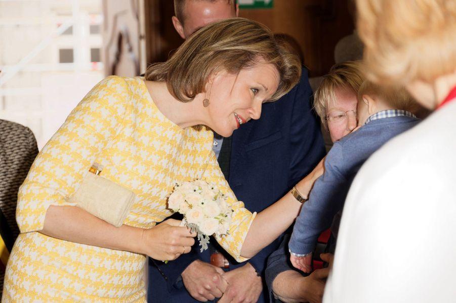 La reine Mathilde de Belgique à Saint-Trond, le 15 septembre 2017
