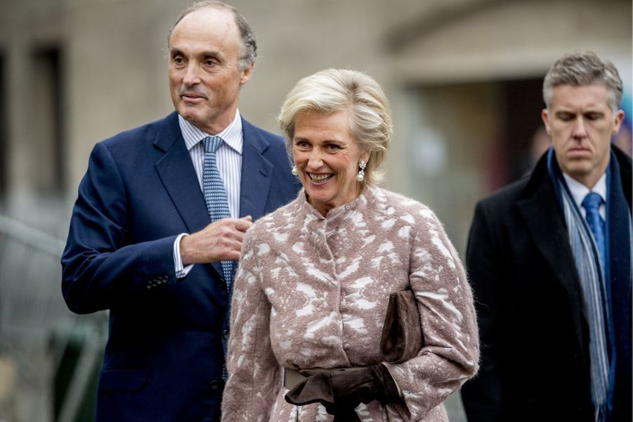La princesse Astrid de Belgique et le prince Lorentz à Bruxelles, le 15 novembre 2016
