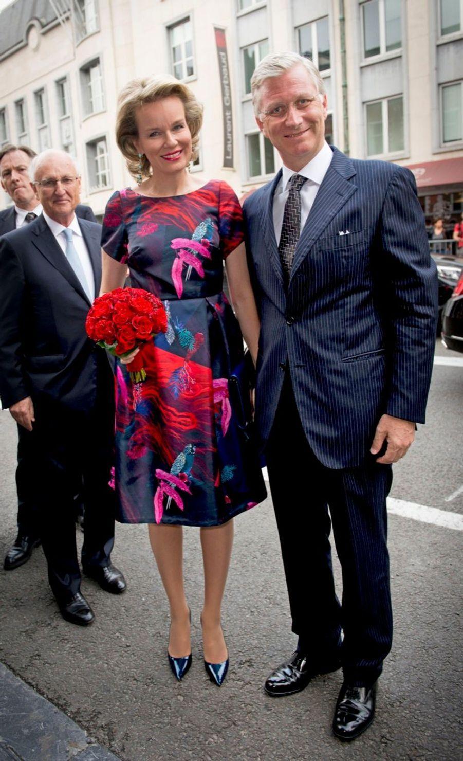 Le roi des Belges Philippe et son épouse Mathilde au concert de prélude à la Fête nationale