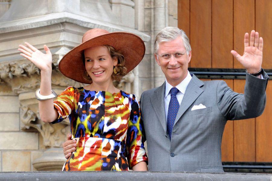 La reine Mathilde de Belgique, le 6 septembre 2013