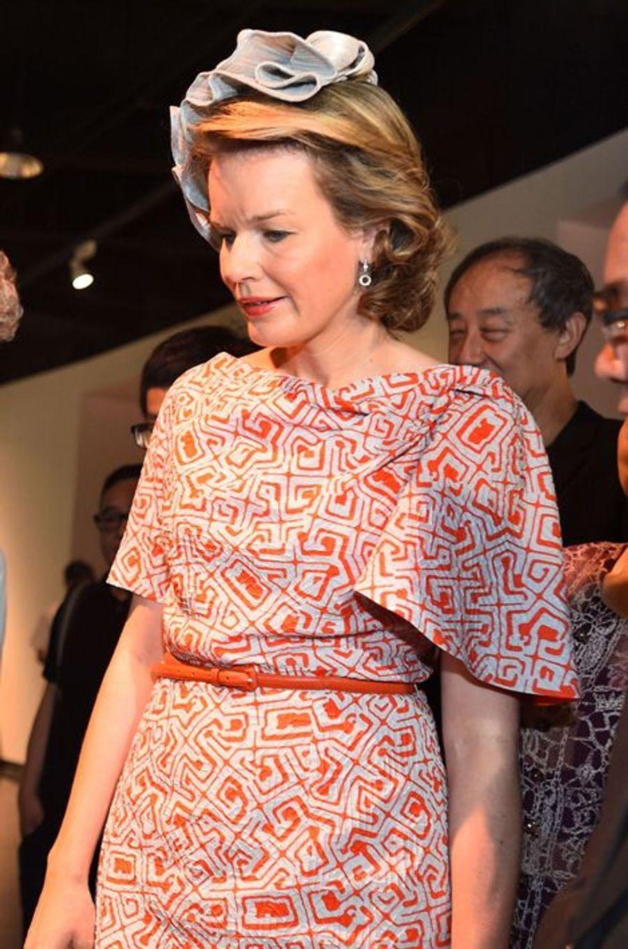 La reine Mathilde de Belgique à Wuhan, le 22 juin 2015