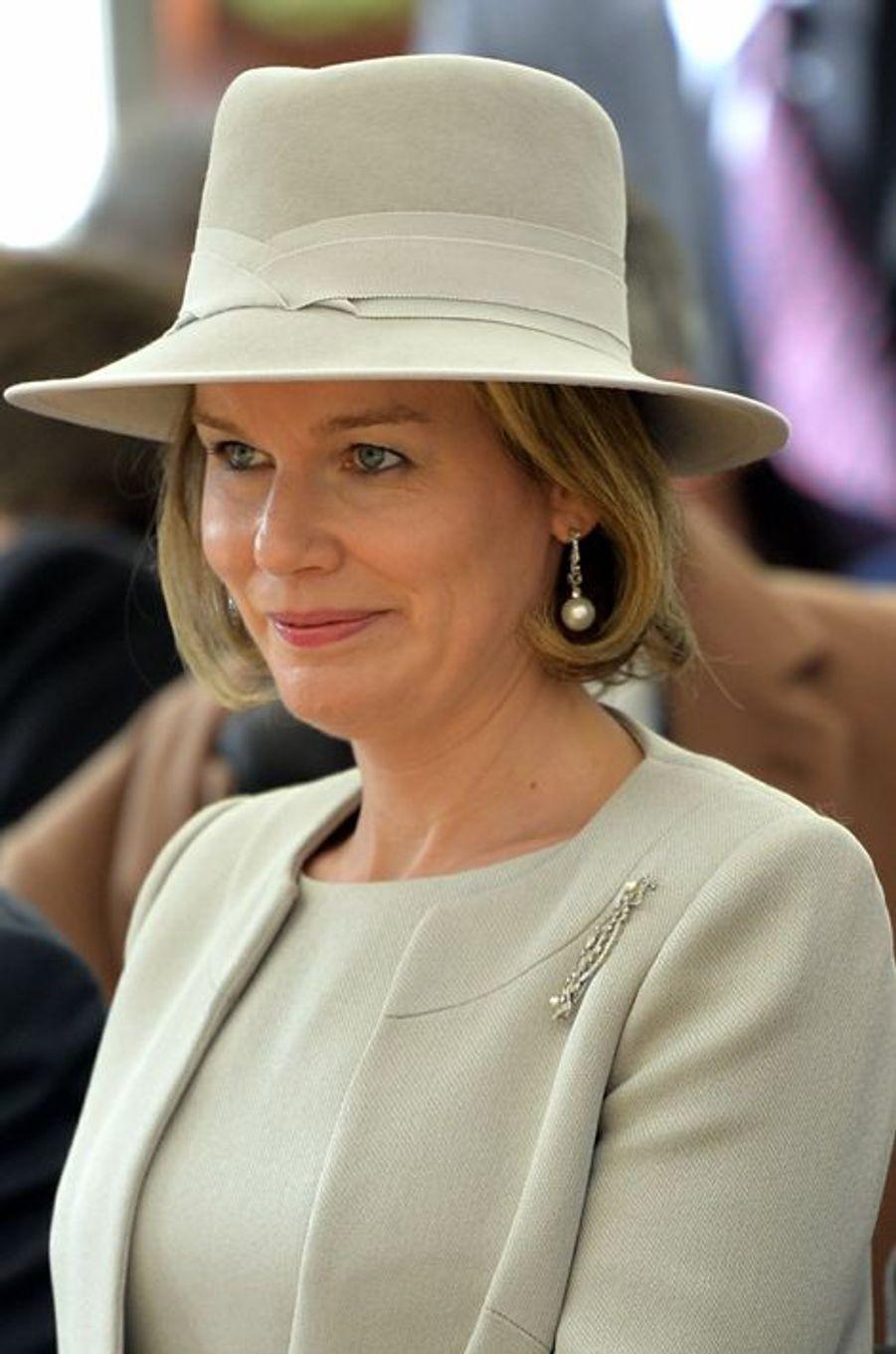 La reine Mathilde de Belgique à Varsovie, le 14 octobre 2015