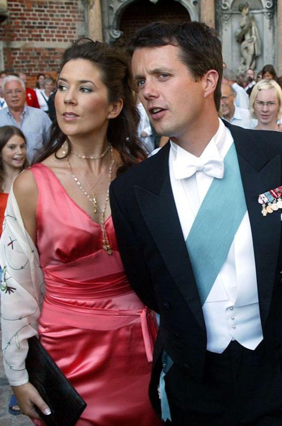 Mary Donaldson et le prince Frederik de Danemark, le 24 août 2002