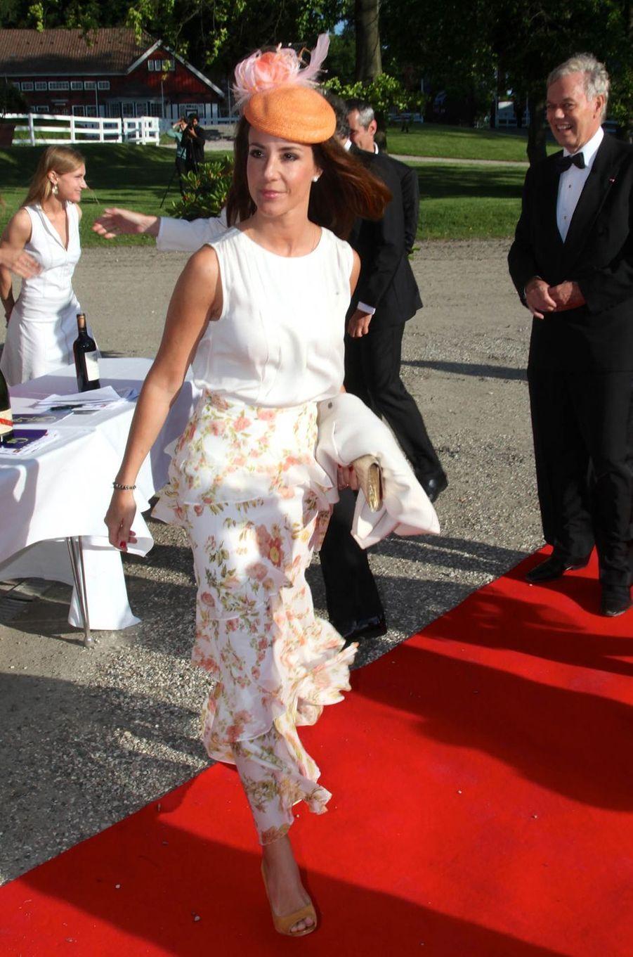 La princesse Marie de Danemark à Klampenborg, le 14 juin 2017