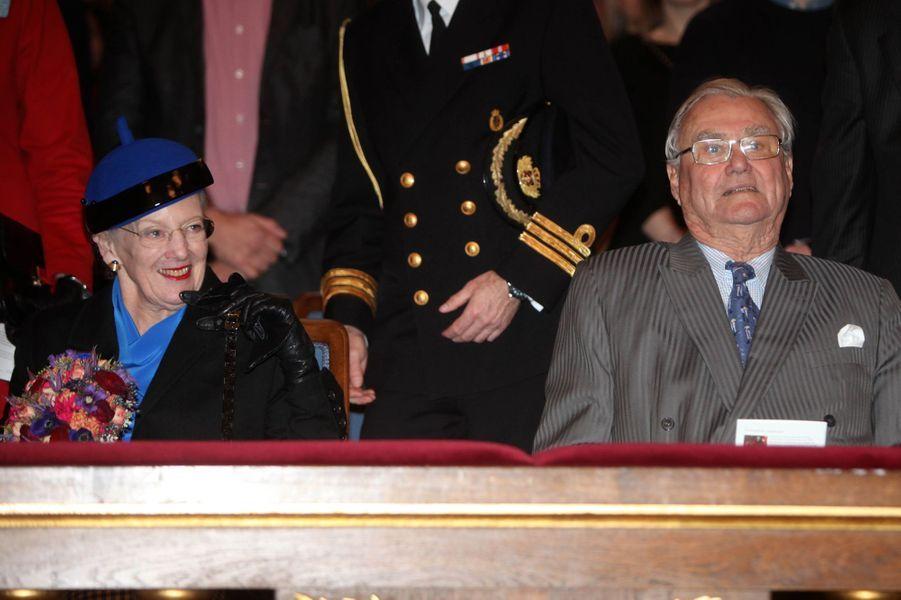 La reine Margrethe II de Danemark et le prince consort Henrik à Copenhague, le 20 novembre 2015