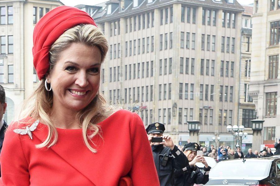 La reine Maxima des Pays-Bas à Hambourg, le 20 mars 2015