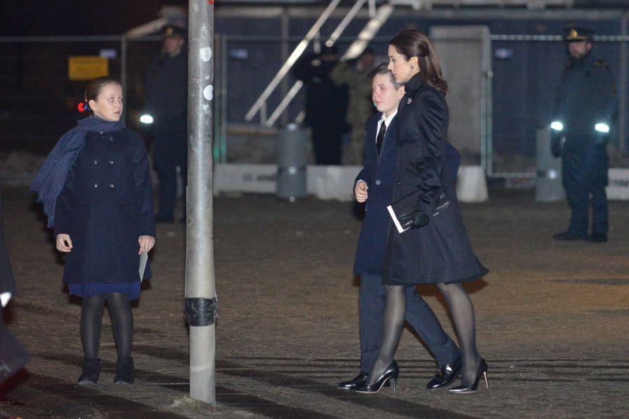 Les princesses Mary et Isabella et le prince Christian de Danemark à Copenhague, le 16 février 2018