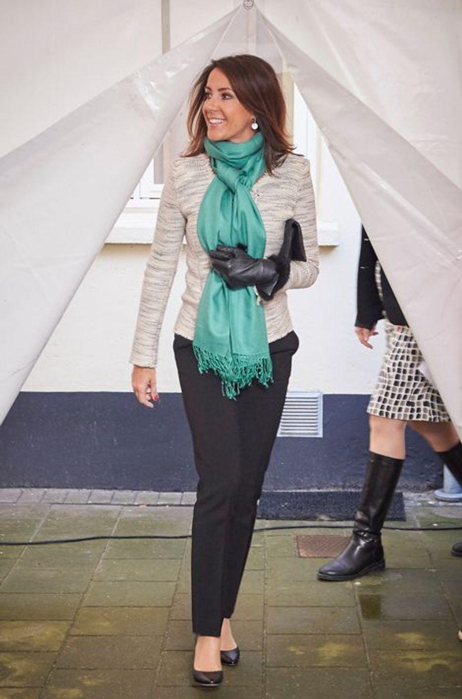 La princesse Marie de Danemark inaugure le WeFood store de Copenhague, le 22 février 2016